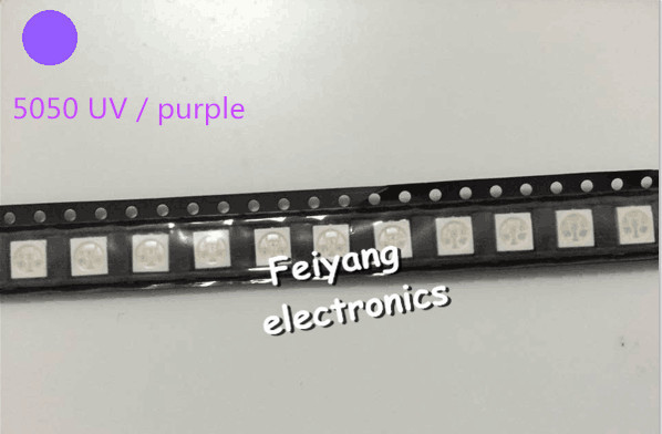 Diodes 200pcs Water Clear Led Light Diode 5050 Uv/purple Smd/smt High Power Led Plcc-6 3-chips Super Bright Lamp Light High Quality Exquisite Craftsmanship;