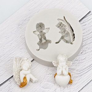 Image 4 - 3D Baby Angel Silicone Mold Fondant Mould Cake Decorating Tool Chocolate Gumpaste Mold Sugarcraft Kitchen Accessories Soap Mould