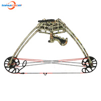 50lbs Camouflage Compound Bow for Left / Right Hand Hunting Shooting Target Practice Sport Games Archery Triangle Stable Bow