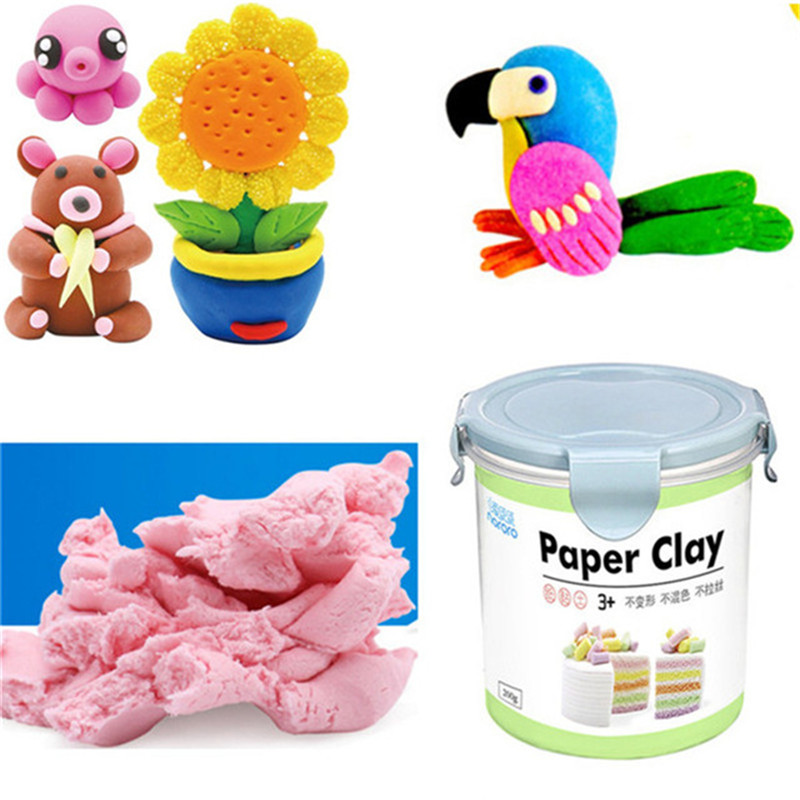 Paper Claying 800ML Soft Ultralight DIY Non-Toxic Non-Brushed Space Sand Kids Play Toy Creative Children Funny Toys