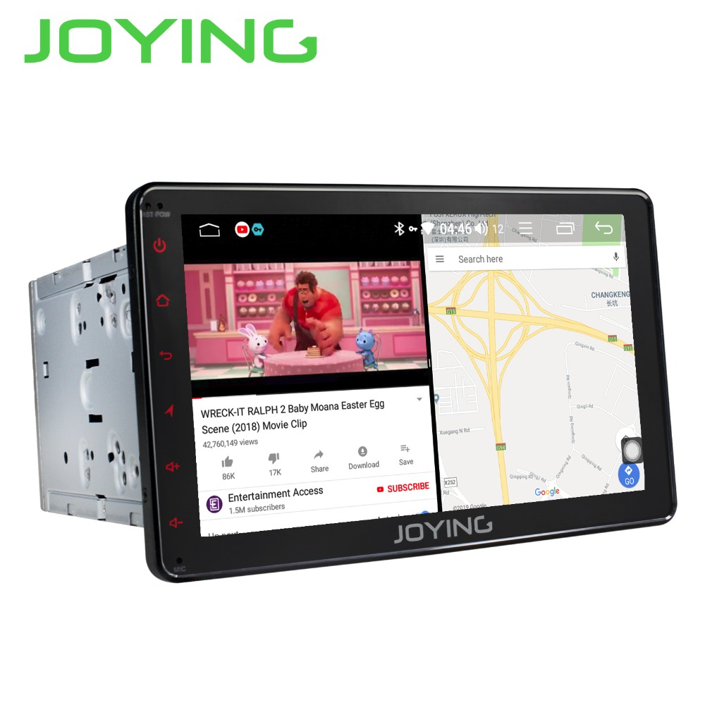 JOYING 2 Din Car Radio 4GB Android 8.1 Octa Core GPS Receiver WIFI 8 inch HD display support fast boot/Voice Command head unit
