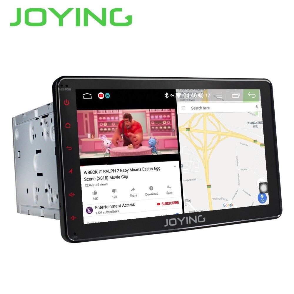 JOYING 2 Rádio Do Carro um Din 4 GB Android 8.1 Octa Núcleo GPS WI-FI Receptor 8 polegada HD display suporte rápido boot/cabeça da unidade de Comando de Voz