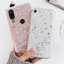 Silicone Case for Xiaomi Redmi Note 7 6 Pro 5 Plus 6A 4 4X S2 Cases for Xiaomi Mi 9 8 A1 A2 Lite 6X 5X Cover Love Heart Star(China)