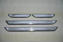 цена на The thre4PCS/SET shold bar stainless steel Scuff Plate/Door Sill For Nissan X-Trail X Trail 2008-2013 4PCS/SET