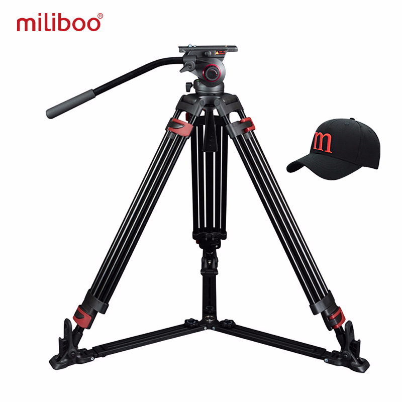 Miliboo MTT609A trépied professionnel pour caméra à rotule hydraulique robuste pour caméscope/support DSLR trépied vidéo charge 15 kg Max-in Trépieds from Electronique    1