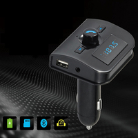 Lonleap Bluetooth FM Transmitter Radio Adapter Car Kit With 5V 2 1A USB Car Charger MP3