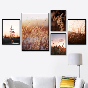 Image 2 - Farm Plant Wheat Leaves Landscape Quotes Wall Art Canvas Painting Nordic Posters And Prints Wall Pictures For Living Room Decor