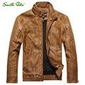 2016 Otoño chaqueta de Cuero Chaqueta de Cuero Jaqueta Couro Masculino Bomber Biker Chaquetas De Cuero para Los Hombres Capa de la Chaqueta de Piel