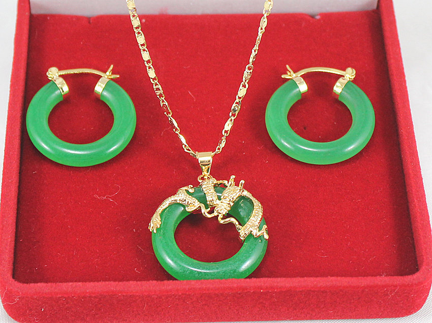 Dark Green Jade Set