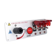 Racing Car Auto 12V LED Toggle Ignition Switch Panel Engine Start  Push Btns Kit Set 2016