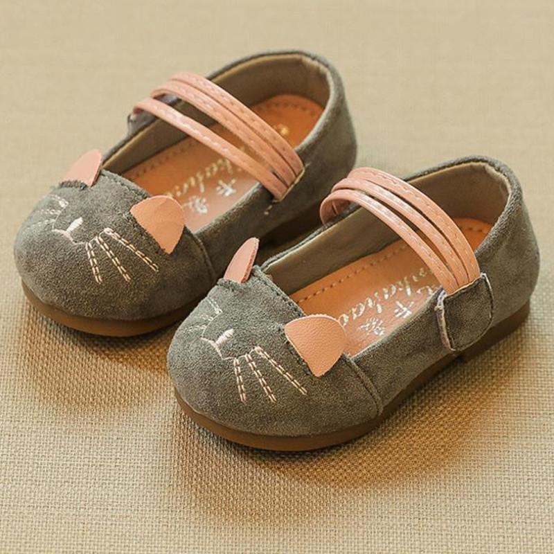 HaoChengJiaDe Girls Leather Shoes Spring Autumn Children Princess Shoes Student Shoes 2018 New Kids Girls Baby Leisure Sneakers