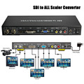 VOXLINK SDI to ALL Scaler Converter SD, HD and 3G-SDI to HDMI/DVI/VGA/Composite Converter Splitter With 12V Power Adapter_DHL