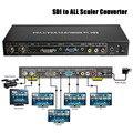 Voxlink sdi a todos escalador convertidor sd, hd y 3g-sdi a hdmi/dvi/vga/compuesto convertidor del divisor con 12 v de alimentación adapter_dhl