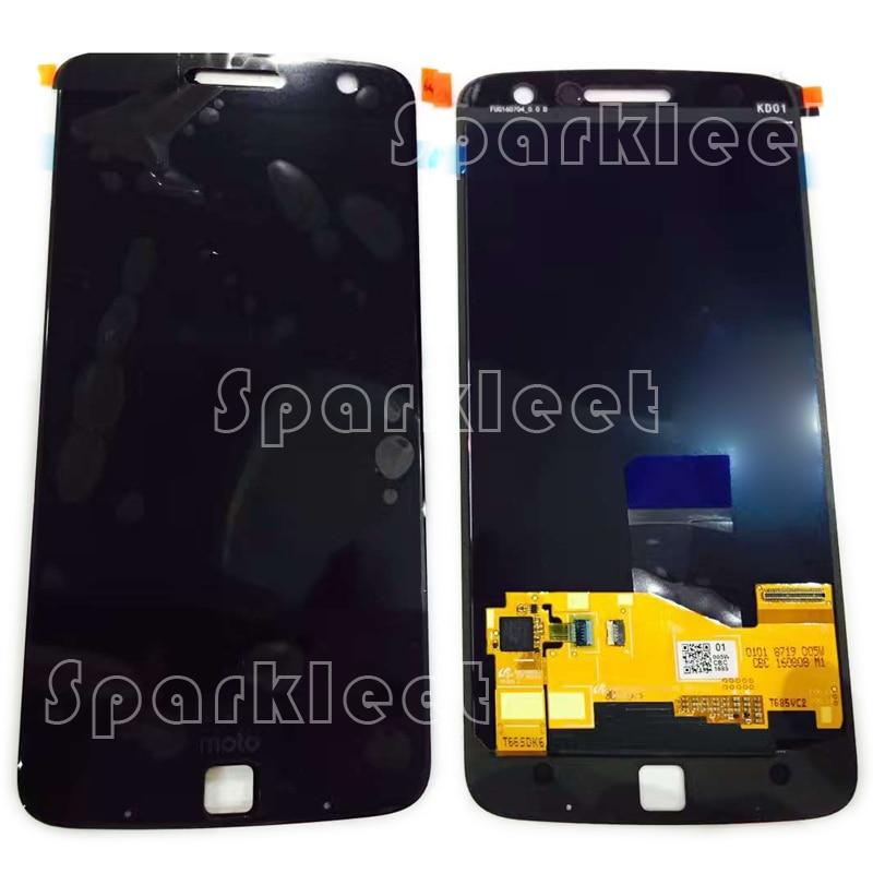 все цены на  New LCD Screen For Motorola Moto Z Droid XT1650-05 LCD Display+ Touch Screen Digitizer Assembly Repair Part  онлайн