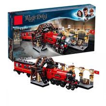 New fit legoing Magic Academy Ron Hermione Express Set Train Building Blocks Bricks Kids boys Toys