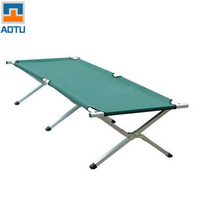 Summer Military Sleeping Bag Sport Camping Sleeping Leisure Outdoor Folding Bed Aluminum Alloy Camp Bed AT6712