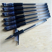 100 pcs /lot 0.5mm black gel pen carbon good writing red metal chirography  office & school blue for student