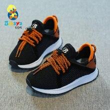 2018 BABAYA детские кроссовки для мальчиков повседневная обувь для девочек обувь из сетчатого материала дышащие спортивные пот корейской версии ткани