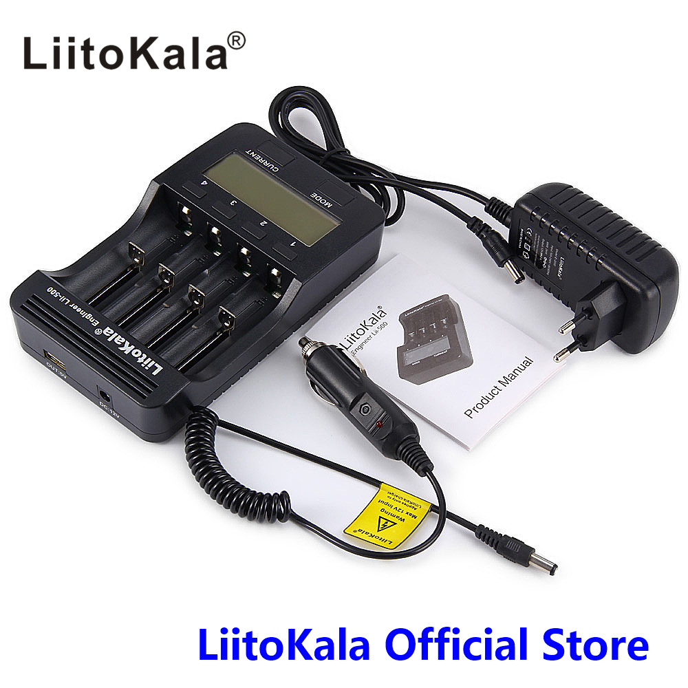 LiitoKala lii 500 LCD Display 18650 Battery Charger lii500 For 18650 17500 26650 1634014500 AA AAA