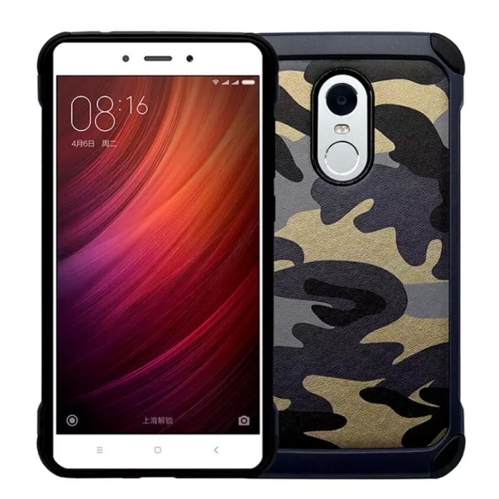 Армия Камуфляж Чехол Для Xiaomi Redmi note 2 xiaomi Mi4 4 Mi5 5 Case Броня Жесткий PC + Мягкий Силиконовый Чехол для Redmi note 3 4 Case