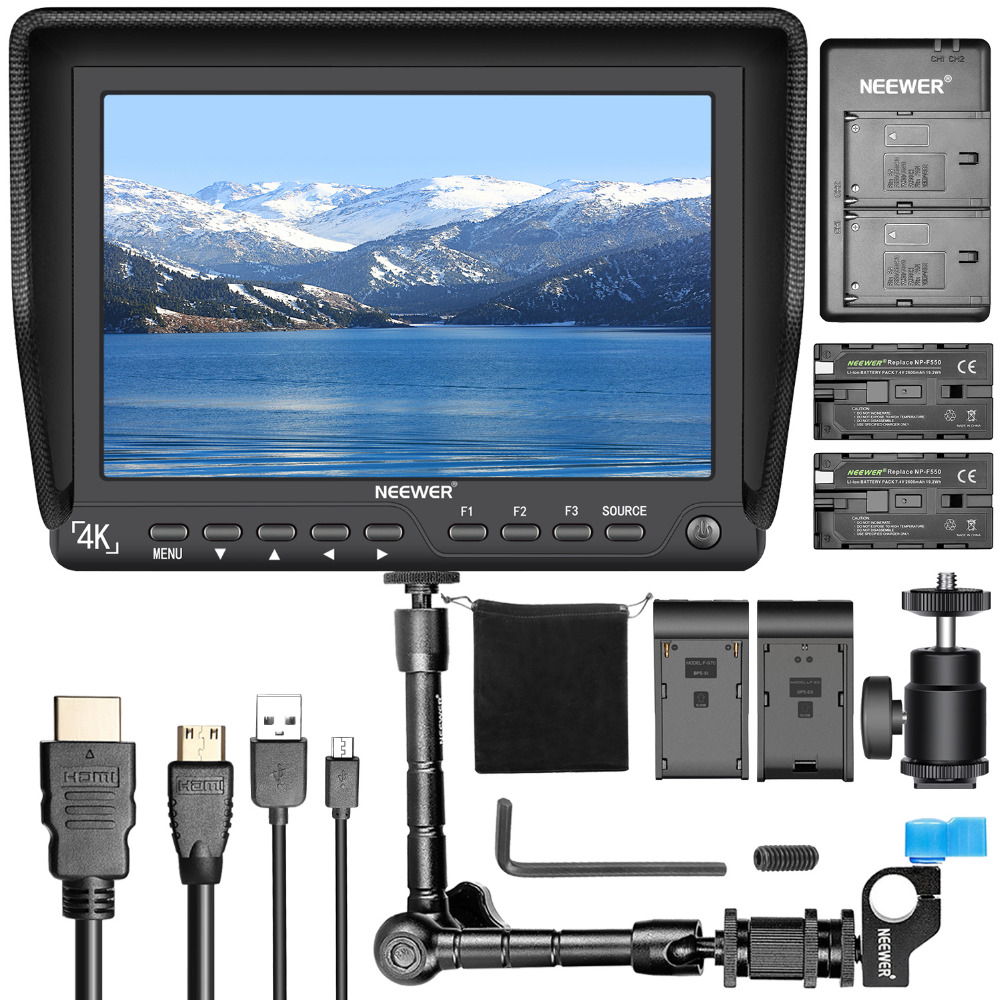 Neewer NW-S7 7 inches 4K HD Camera Field Monitor Kit for Sony Canon Nikon Olympus Pentax 1920X1200 IPS Screen Camera Monitor фотографическое освещение neewer 300pcs canon nikon samsung olympus jvc pentax