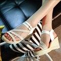Versão coreana Do Verão Inclinação Com As Sandálias de Estudantes Do Sexo Feminino de alta-Sapatos de salto alto Sapatos De Salto Alto. QCLR-6001