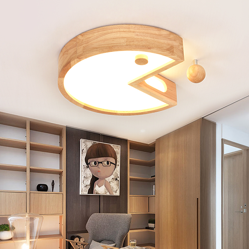 Deckenleuchten Kinderzimmer Led-lampen Holzdeckenlampe Kreative Jungen Und Mädchen Lampen Massivholz Led Schlafzimmer Lampe Wl319018 Deckenleuchten & Lüfter