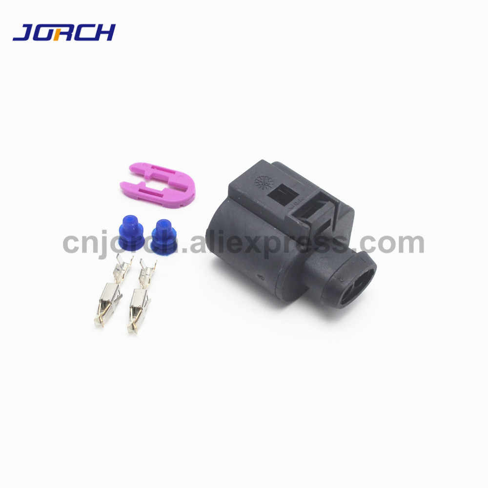 10 sets 2 pin 3.5mm plug automotive wiring harness connector 1j0973722  electrical horn sensor connectors 1j0 973 722| | - aliexpress  aliexpress