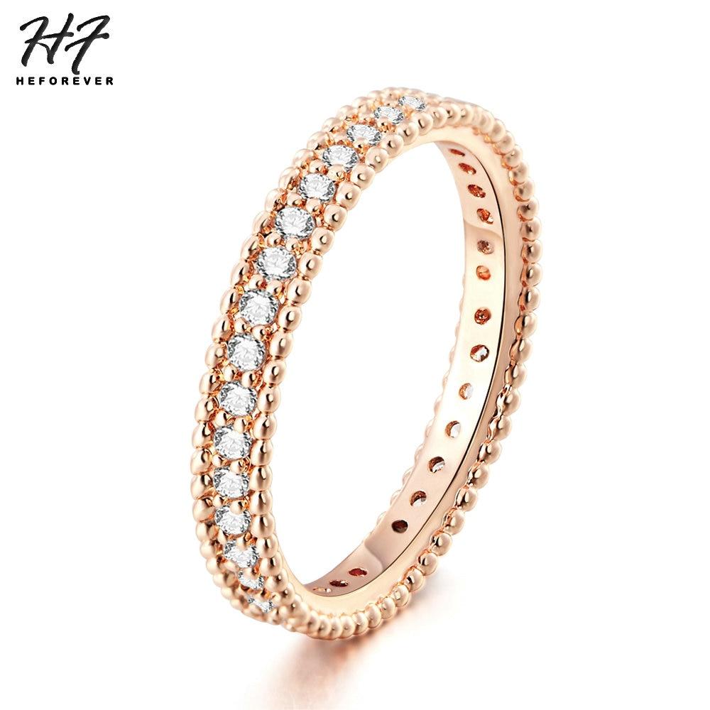 Zhouyang Hochzeit Ring Für Frauen Liebhaber Einfache Zirkonia Rose Gold Farbe Mode Schmuck Zyr314 Zyr317 Verschiedene Stile Hochzeits- & Verlobungs-schmuck Verlobungsringe