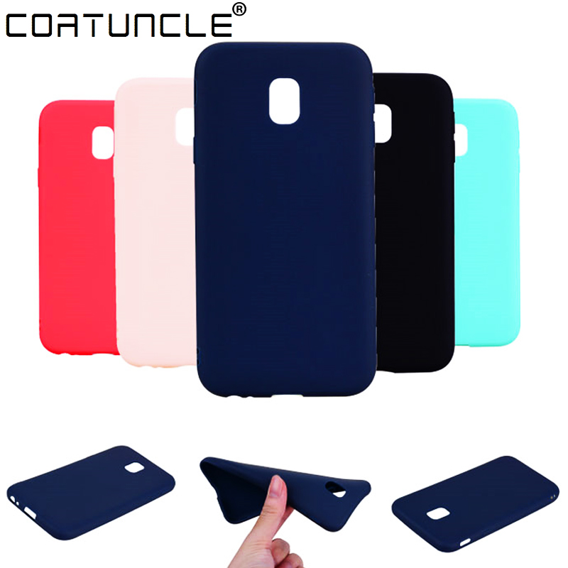 Galleria fotografica TPU Soft Cases For Samsung Galaxy J5 2017 Case Slim 360 Candy Color Silicon Back Cover For Samsung J5 2017 J530 Case Phone Cover