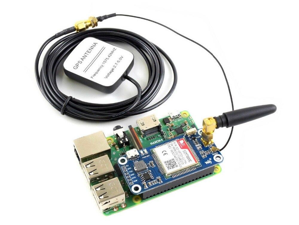NB-IoT/eMTC/EDGE/GPRS/GNSS HAT for Raspberry Pi, Based on SIM7000E rak8213 bg96 based mpcie cellular iot module gnss nb iot usb2 0 catm1