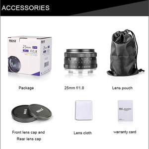 Image 5 - Meike 25mm F1.8 APS C Wide Angle Lens Manual Focus for SONY E mount Fujifilm X mount  Panasonic Olympus M4/3 Camera A7 A7RIII