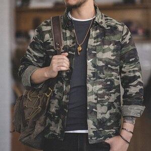 Image 1 - Madden single breasted multi bolso m a xxl tamanho camuflagem jaqueta lapela utilitário encerado lona casual algodão militar jaqueta