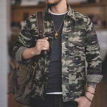 مادن واحدة الصدر متعددة جيب م إلى XXL حجم سترة عسكرية التلبيب فائدة مشمع قماش عادية القطن سترة عسكرية