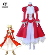 ROLECOS destin jeu EXTRA Cosplay sabre Nero Cosplay deguisement destin Grand ordre femmes Anime deguisement FGO robe rouge pour empereur(China)