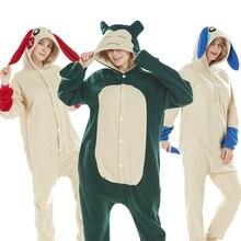 24 NEW Women Animal Rabbit Pegasus Panda Pajamas Winter Flannel Hooded Soft Sleepwear Cosplay Adult Pyjamas Overalls Men