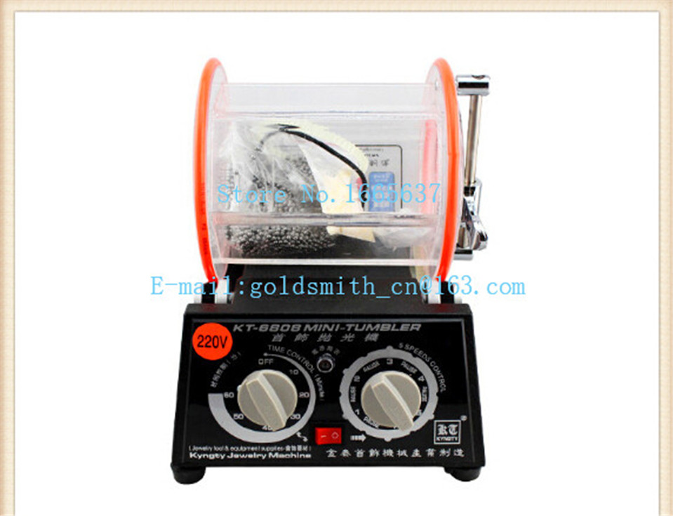 kt6808 220V Rotary Polishing Machine, Rotary Tumbler 3kg Capacity ,Jewelry Tumbler Polisher Magnetic Polish цена