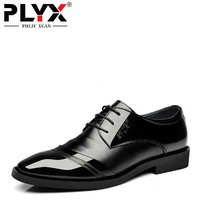 PHLIY XUAN New 2018 Fashion Men Dress Shoes Luxury Brand Black Patent Leather Male Pointed Toe