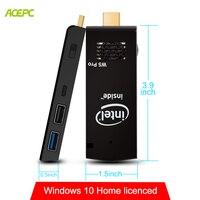 W5 Mini PC Windows 10 Licenced mini Computer Stick Fan 4GB RAM 64GB ROM Intel Atom Z8350 Quad Core WiFi Bluetooth 4.2 4K