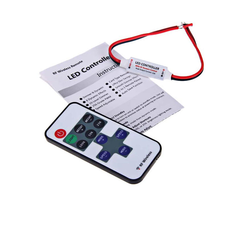 Lighting Accessories Dimmers Collection Here 12v Led Remote Controller Mini Rf Wireless Led Dimmer Controller For Single Color Light Smd5050/3528/5730/5630/3014 Led Strip Beneficial To Essential Medulla
