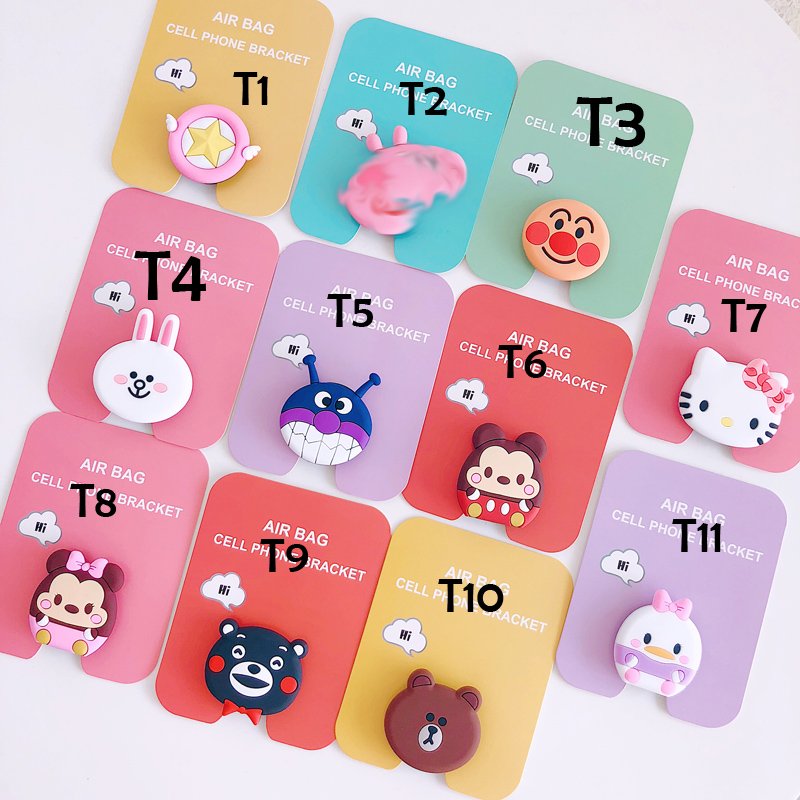 Mobile Phone Accessories Careful 50pcs/lot Cartoon Kitty Melody Luna Cat Unicorn Phone Air Bag Bracket Stand Finger Holder Mobile Smartphone Stand Holder