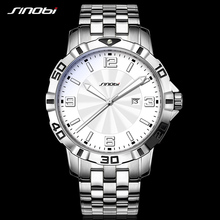 SINOBI Hombres Relojes de Primeras Marcas de Lujo Hombre Reloj Deportivo de Acero Inoxidable Reloj de pulsera de Cuarzo Horas Reloj de Edición Limitada de Negocios 2017