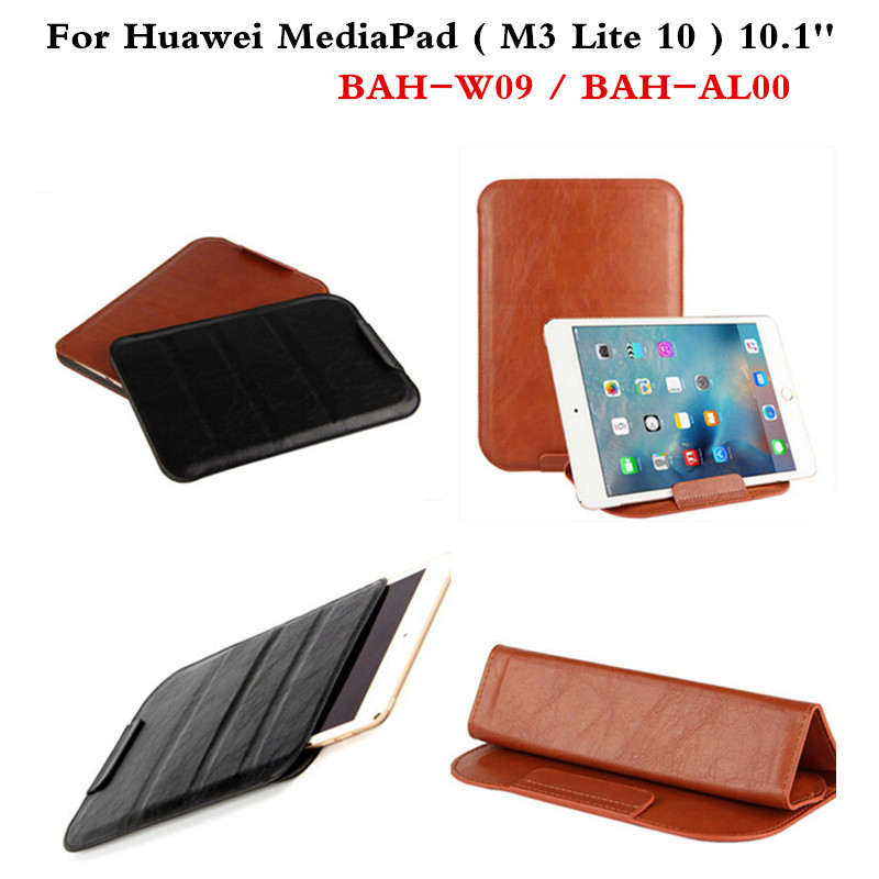 PU Leather case super slim cover Sleeve Bag Cases For Huawei MediaPad M3 Lite 10 BAH-W09 BAH-AL00 10.1'' Tablet sleeve Pouch luxury pu leather cover business with card holder case for huawei mediapad m3 lite 10 10 0 bah w09 bah al00 10 1 inch tablet