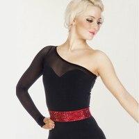 Woman Sexy Latin dance performance dance shirt Latin dance competition Cha Cha/Rumba/Samba/ Dance Wear