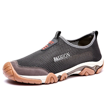 где купить 2019 Men's Casual Shoes Sneakers Summer Men Shoes Loafers Footwears Mesh Breathable Comfortable  Slip on Walking Drop Shipping по лучшей цене