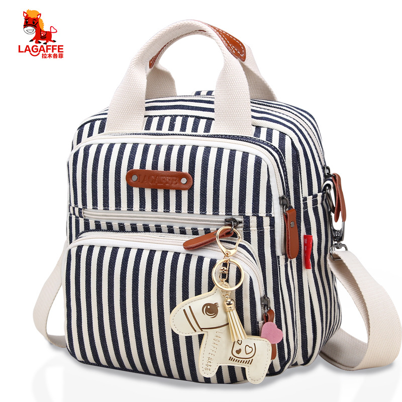 High Level Canvas Colorful Mommy Diaper Bag Baby Nappy Bags Maternity Mommy Women Backpack/Handbag/Messenger Three-In-One Bag