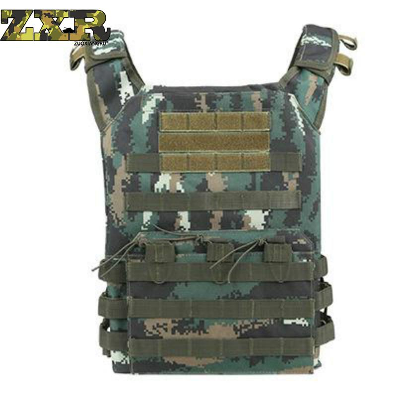 Camouflage Hunting Military Tactical Vest Amphibious Battle Combat Airsoft Molle Bullet Assault Plate Carrier Vest