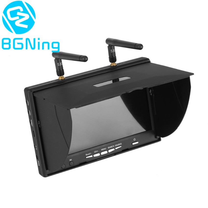 LS-5802D 5.8G FPV DVR 7 Monitor 7inch Handheld LCD Screen Receiver for RC Racer Drone Multi-copter Accessory Built-in Battery