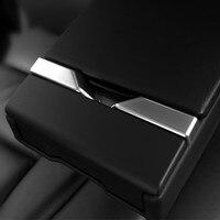 Car Rear Armrest Box Decorative Cover Trim For BMW 5 Series 520 523 528 525 f10 Interior Accessories Chrome ABS Strip