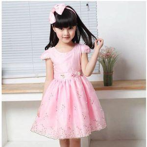 2019 verão meninas vestidos bolha de manga curta meninas bordadas vestidos de princesa moda vestidos de baile